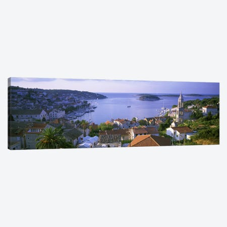 Port Of Hvar, Split-Dalmatia County, Republic Of Croatia Canvas Print #PIM4627} by Panoramic Images Canvas Art