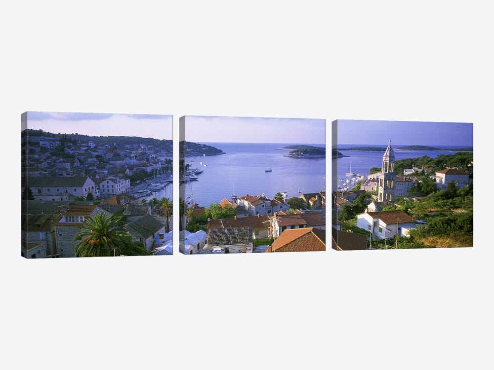 Port Of Hvar, Split-Dalmatia County, Republic Of Croatia by Panoramic Images 3-piece Art Print