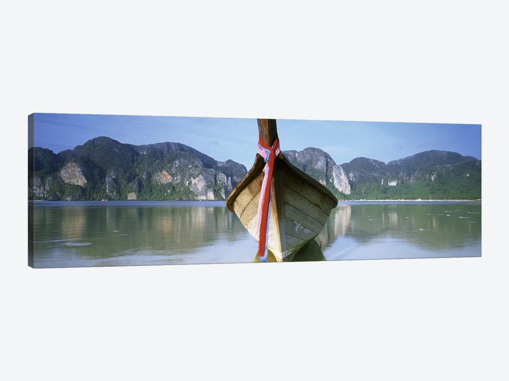 Boat Moored In The WaterPhi Phi Islands, Thailand by Panoramic Images 1-piece Canvas Artwork