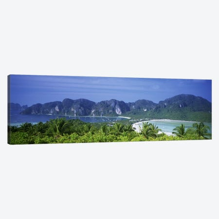 Tropical Limestone Mountains, Ko Phi Phi Don, Phi Phi Islands, Thailand Canvas Print #PIM4636} by Panoramic Images Canvas Print