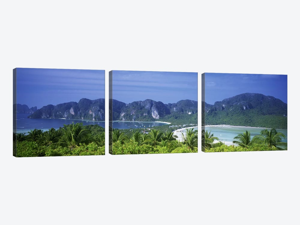 Tropical Limestone Mountains, Ko Phi Phi Don, Phi Phi Islands, Thailand by Panoramic Images 3-piece Art Print
