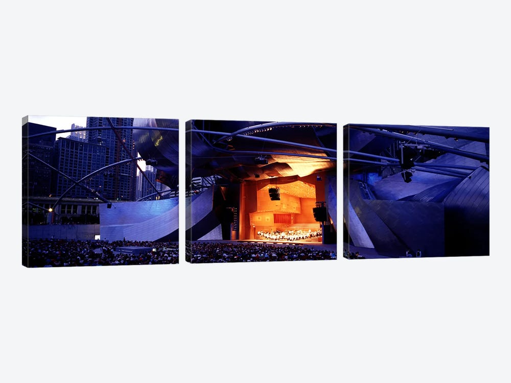 USAIllinois, Chicago, Millennium Park, Pritzker Pavilion by Panoramic Images 3-piece Canvas Wall Art