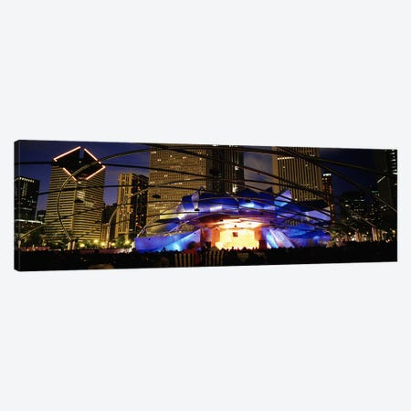 An Illuminated Pritzker Pavilion At Night, Millennium Park, Chicago, Illinois, USA Canvas Print #PIM4643} by Panoramic Images Art Print