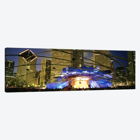USAIllinois, Chicago, Millennium Park, Pritzker Pavilion, Spectators watching the show Canvas Print #PIM4644} by Panoramic Images Canvas Art