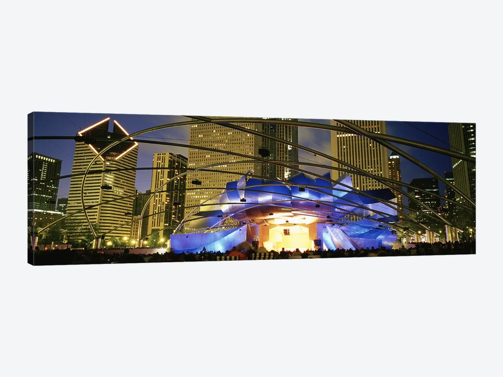 USAIllinois, Chicago, Millennium Park, Pritzker Pavilion, Spectators watching the show by Panoramic Images 1-piece Canvas Artwork