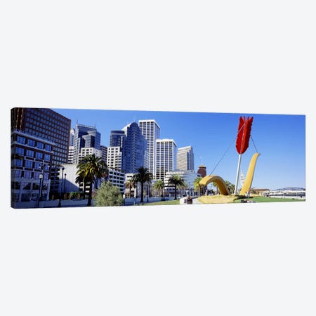 USACalifornia, San Francisco, Claes Oldenburg sculpture Canvas Print #PIM4647} by Panoramic Images Canvas Artwork