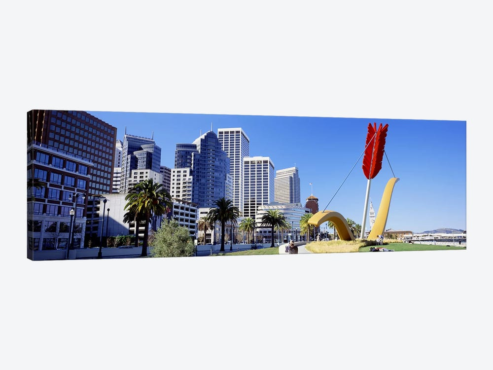 USACalifornia, San Francisco, Claes Oldenburg sculpture by Panoramic Images 1-piece Canvas Art Print