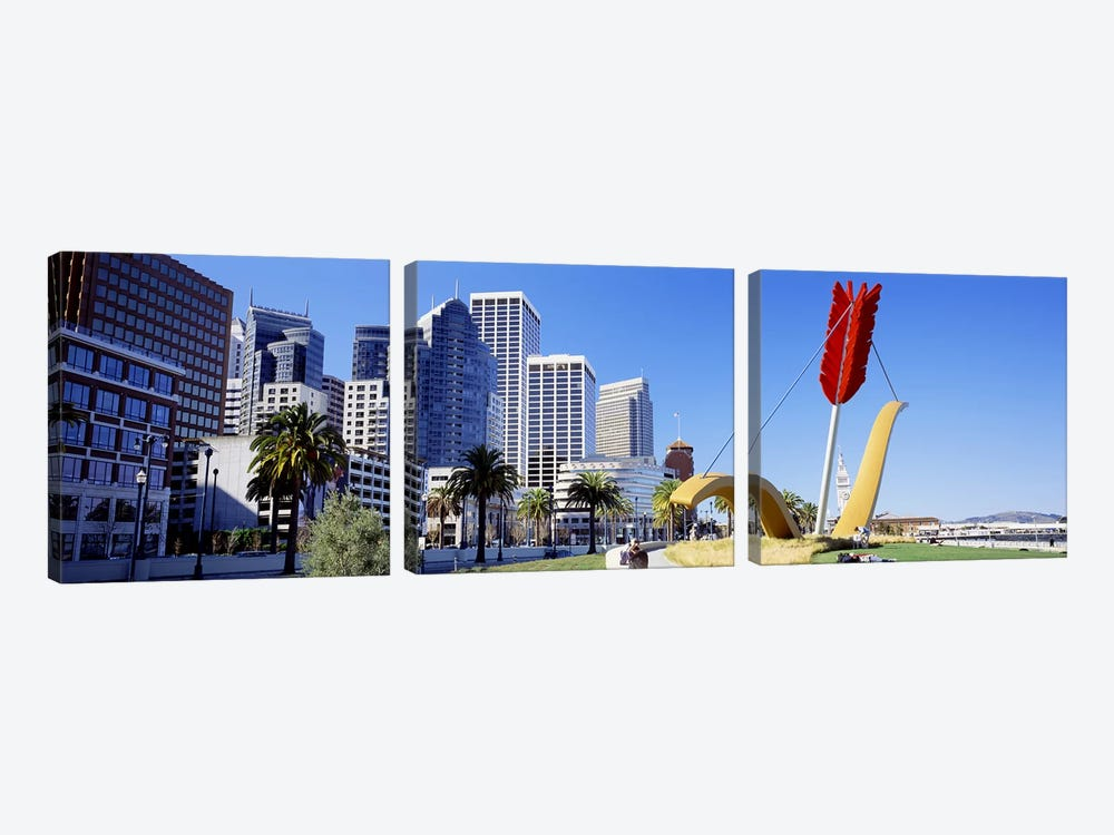 USACalifornia, San Francisco, Claes Oldenburg sculpture by Panoramic Images 3-piece Art Print