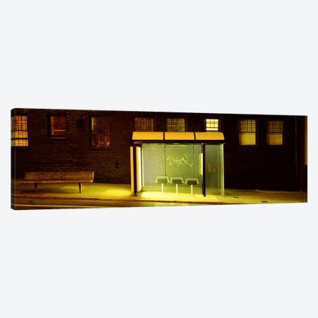 Bus Stop At Night, San Francisco, California, USA Canvas Print #PIM4650} by Panoramic Images Canvas Artwork