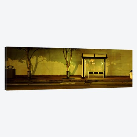 Bus Stop At Night, San Francisco, California, USA #2 Canvas Print #PIM4651} by Panoramic Images Canvas Art
