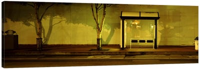 Bus Stop At Night, San Francisco, California, USA #2 Canvas Print #PIM4651