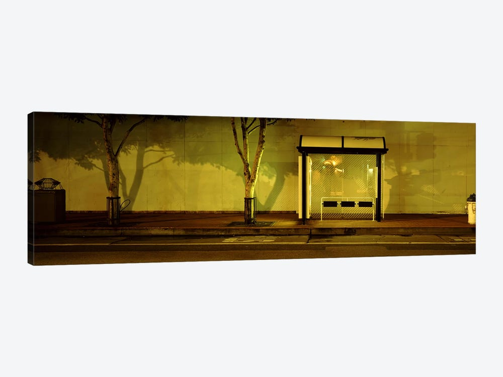Bus Stop At Night, San Francisco, California, USA #2 by Panoramic Images 1-piece Canvas Artwork