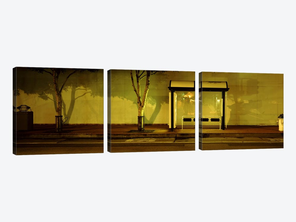 Bus Stop At Night, San Francisco, California, USA #2 by Panoramic Images 3-piece Canvas Art