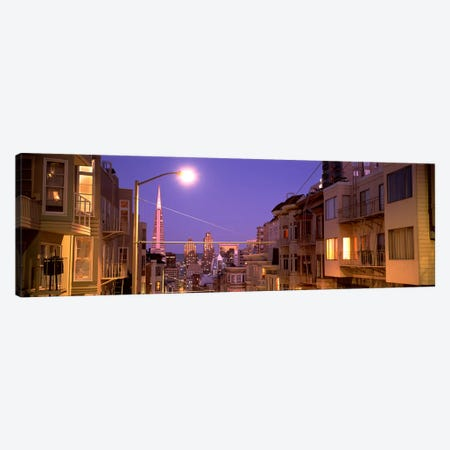 City At Night, San Francisco, California, USA Canvas Print #PIM4652} by Panoramic Images Canvas Artwork
