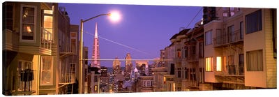 City At Night, San Francisco, California, USA Canvas Print #PIM4652