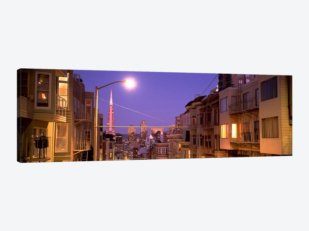City At Night, San Francisco, California, USA by Panoramic Images 1-piece Canvas Art Print