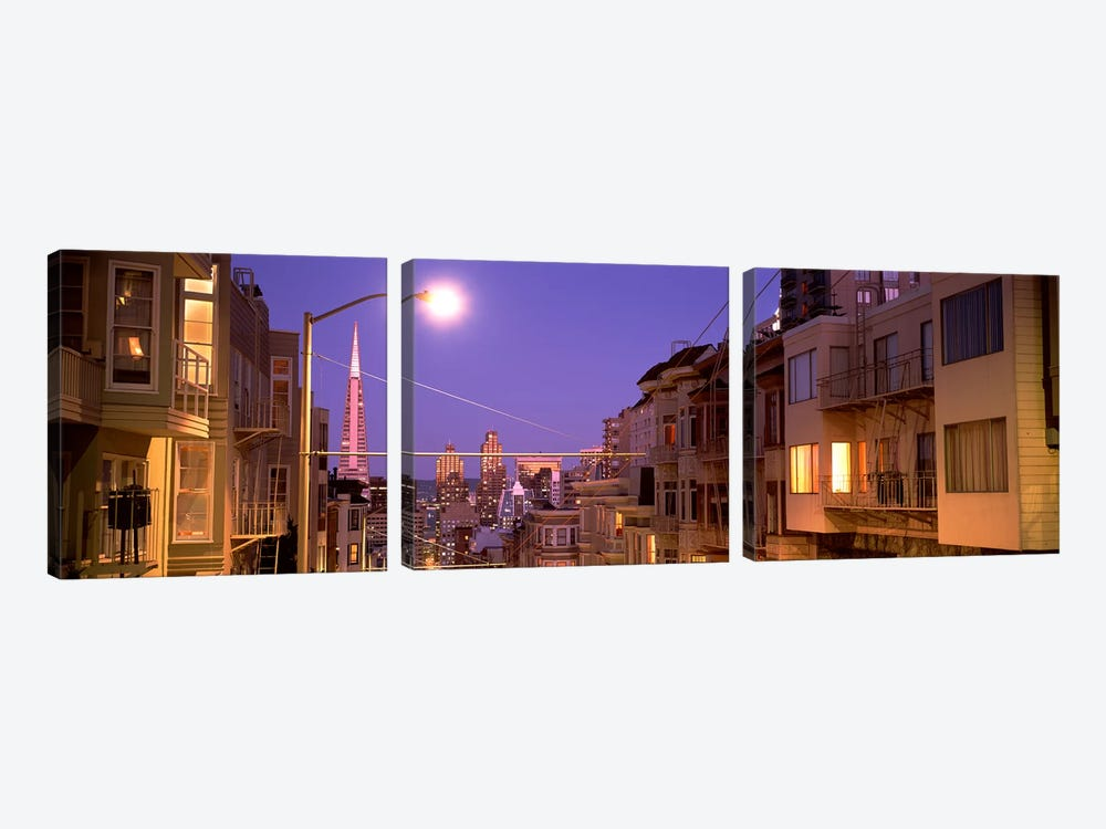 City At Night, San Francisco, California, USA by Panoramic Images 3-piece Canvas Print