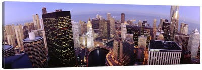 USA, Illinois, Chicago, Chicago River, High angle view of the city Canvas Print #PIM4666