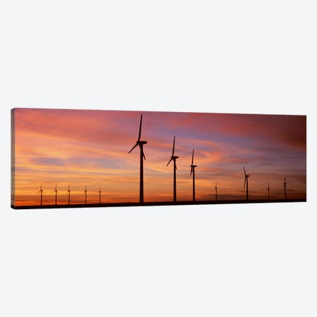 Wind Turbine In The Barren Landscape, Brazos, Texas, USA Canvas Print #PIM4667} by Panoramic Images Canvas Art