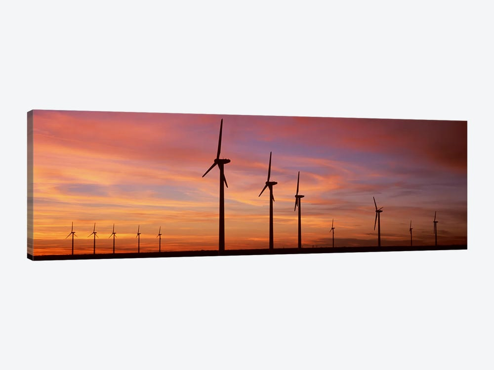 Wind Turbine In The Barren Landscape, Brazos, Texas, USA by Panoramic Images 1-piece Canvas Print