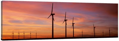 Wind Turbine In The Barren Landscape, Brazos, Texas, USA Canvas Art Print