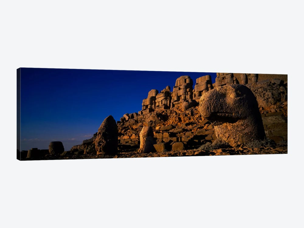 Rocks on a cliff, Mount Nemrut, Nemrud Dagh, Cappadocia, Antolia, Turkey by Panoramic Images 1-piece Art Print