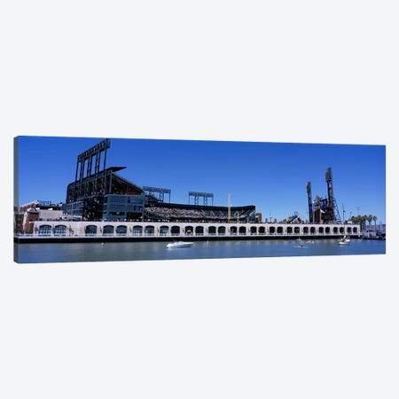 USA, California, San Francisco, SBC Ballpark, Stadium near the water Canvas Print #PIM4670} by Panoramic Images Canvas Wall Art
