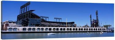 USA, California, San Francisco, SBC Ballpark, Stadium near the water Canvas Art Print