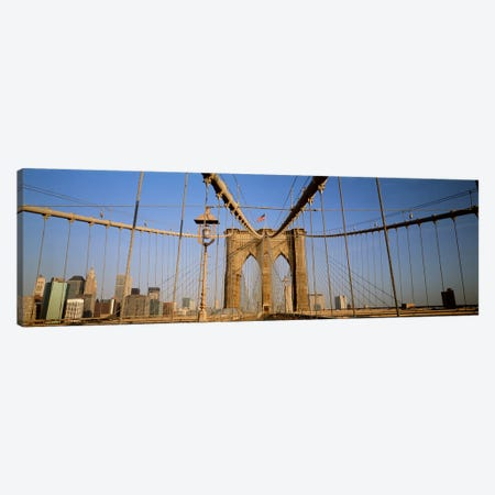 USA, New York State, New York City, Brooklyn Bridge at dawn Canvas Print #PIM4673} by Panoramic Images Canvas Wall Art