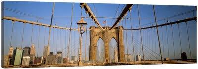 USA, New York State, New York City, Brooklyn Bridge at dawn Canvas Print #PIM4673