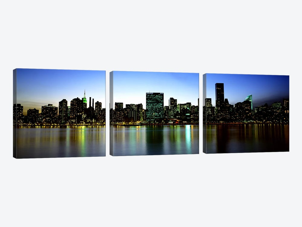 Skyscrapers In A City, NYC, New York City, New York State, USA by Panoramic Images 3-piece Art Print