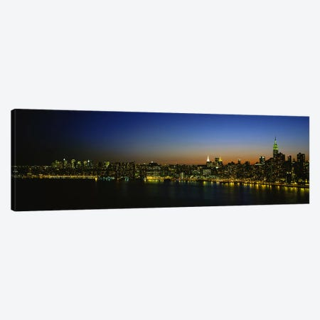 Illuminated Cityscape, New York City, New York, USA Canvas Print #PIM4675} by Panoramic Images Canvas Print