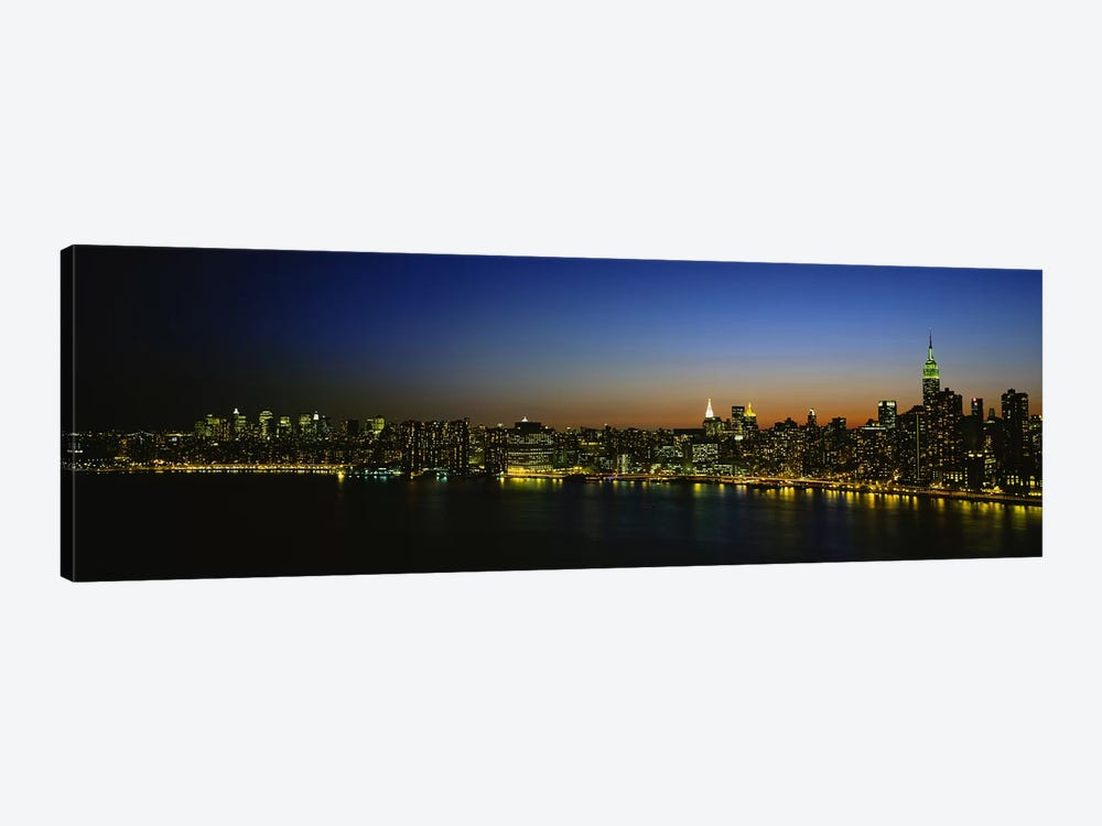 Illuminated Cityscape, New York City, New York, USA by Panoramic Images 1-piece Canvas Artwork