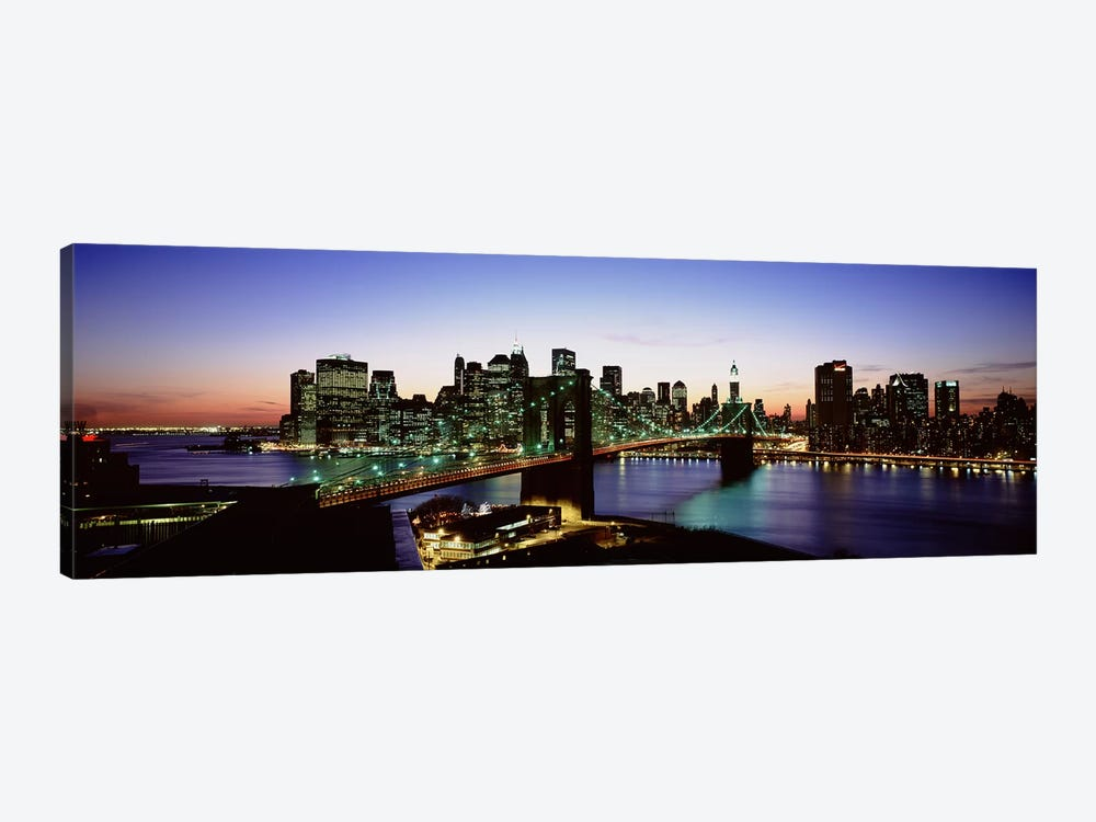 Brooklyn Bridge, New York City, New York, USA by Panoramic Images 1-piece Canvas Print