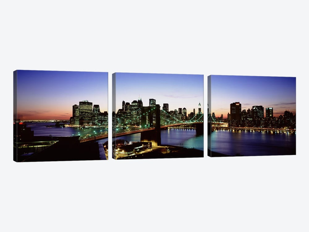 Brooklyn Bridge, New York City, New York, USA by Panoramic Images 3-piece Canvas Art Print