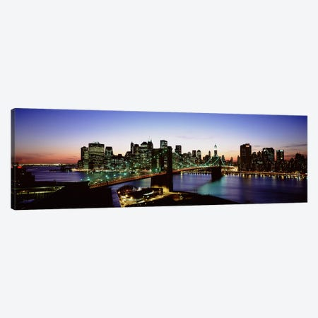 Brooklyn Bridge, New York City, New York, USA 3-Piece Canvas #PIM4676} by Panoramic Images Art Print