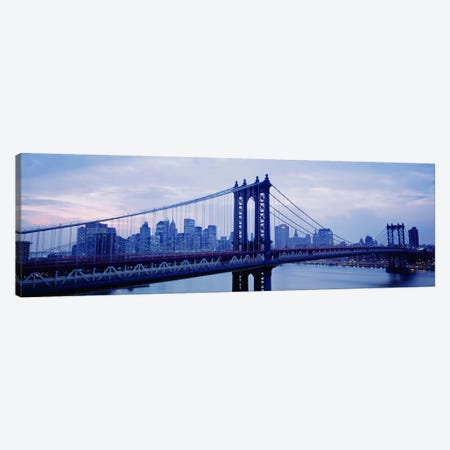 Skyscrapers In A City, Manhattan Bridge, NYC, New York City, New York State, USA Canvas Print #PIM4677} by Panoramic Images Canvas Art Print