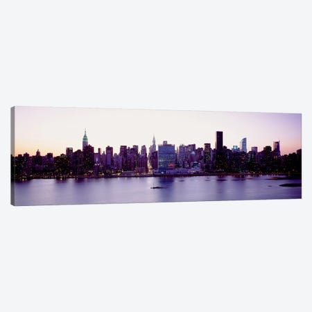 USANew York State, New York City, Skyscrapers in a city Canvas Print #PIM4679} by Panoramic Images Canvas Artwork