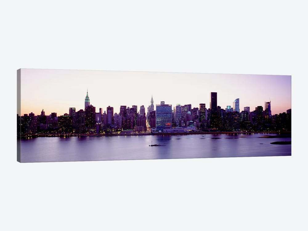 USANew York State, New York City, Skyscrapers in a city by Panoramic Images 1-piece Canvas Artwork