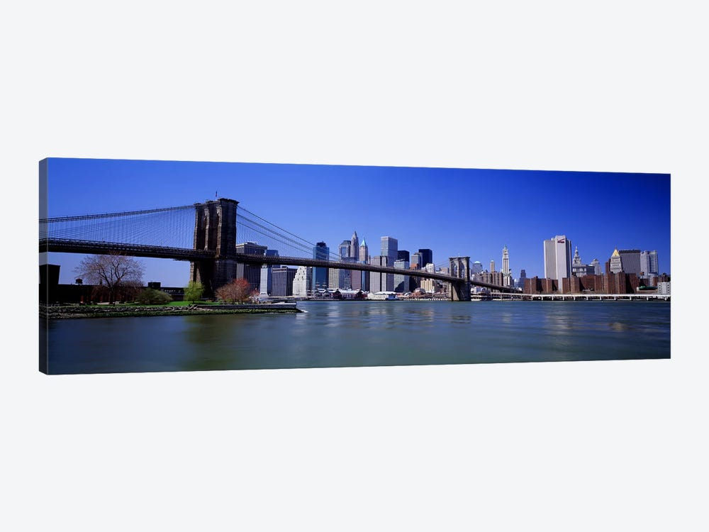 USA, New York State, New York City, Brooklyn Bridge, Skyscrapers in a city #2 by Panoramic Images 1-piece Canvas Artwork