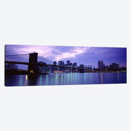 Skyscrapers In A City, Brooklyn Bridge, NYC, New York City, New York State, USA Canvas Print #PIM4681} by Panoramic Images Canvas Art Print