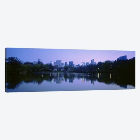 USANew York State, New York City, Central Park Lake, Skyscrapers in a city Canvas Print #PIM4682} by Panoramic Images Art Print