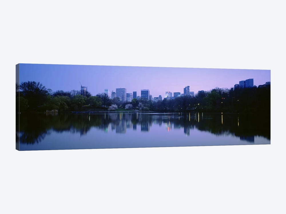 USANew York State, New York City, Central Park Lake, Skyscrapers in a city by Panoramic Images 1-piece Canvas Artwork