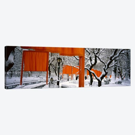 USANew York, New York City, Central Park, People walking in the The Gates Canvas Print #PIM4683} by Panoramic Images Canvas Art Print