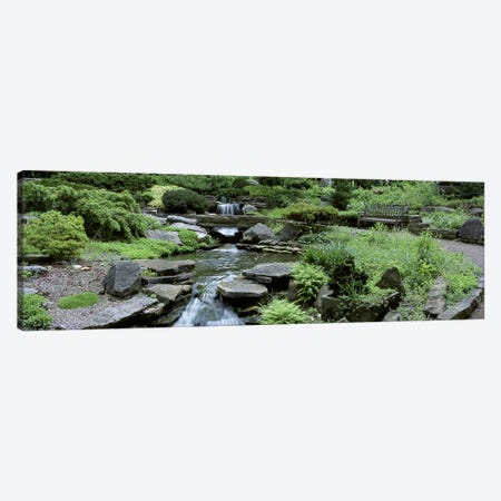 River Flowing Through A Forest, Inniswood Metro Gardens, Columbus, Ohio, USA Canvas Print #PIM4685} by Panoramic Images Canvas Artwork