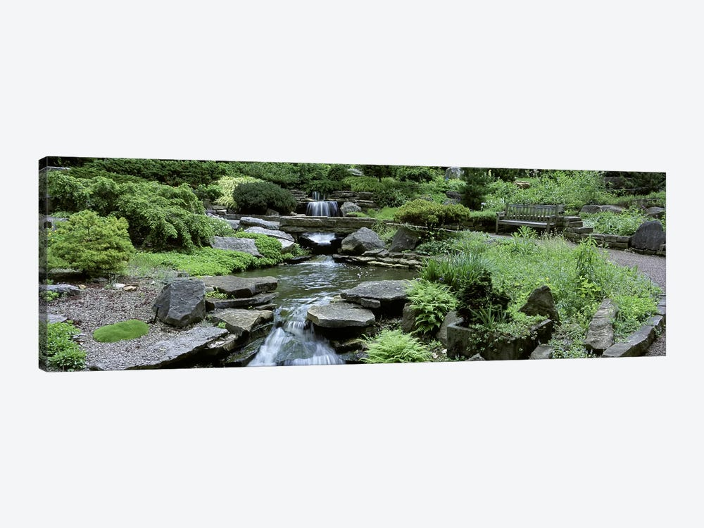 River Flowing Through A Forest, Inniswood Metro Gardens, Columbus, Ohio, USA by Panoramic Images 1-piece Canvas Print