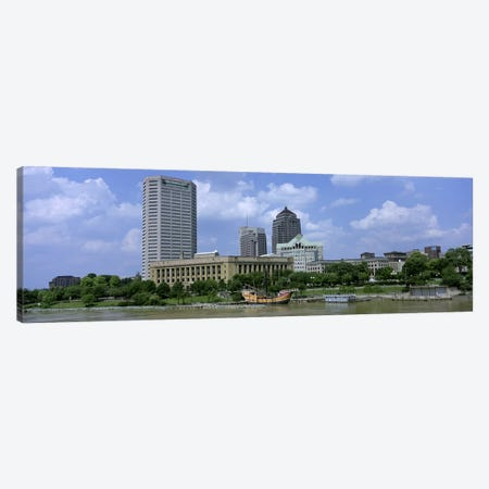 USA, Ohio, Columbus, Cloud over tall building structures Canvas Print #PIM4686} by Panoramic Images Canvas Artwork