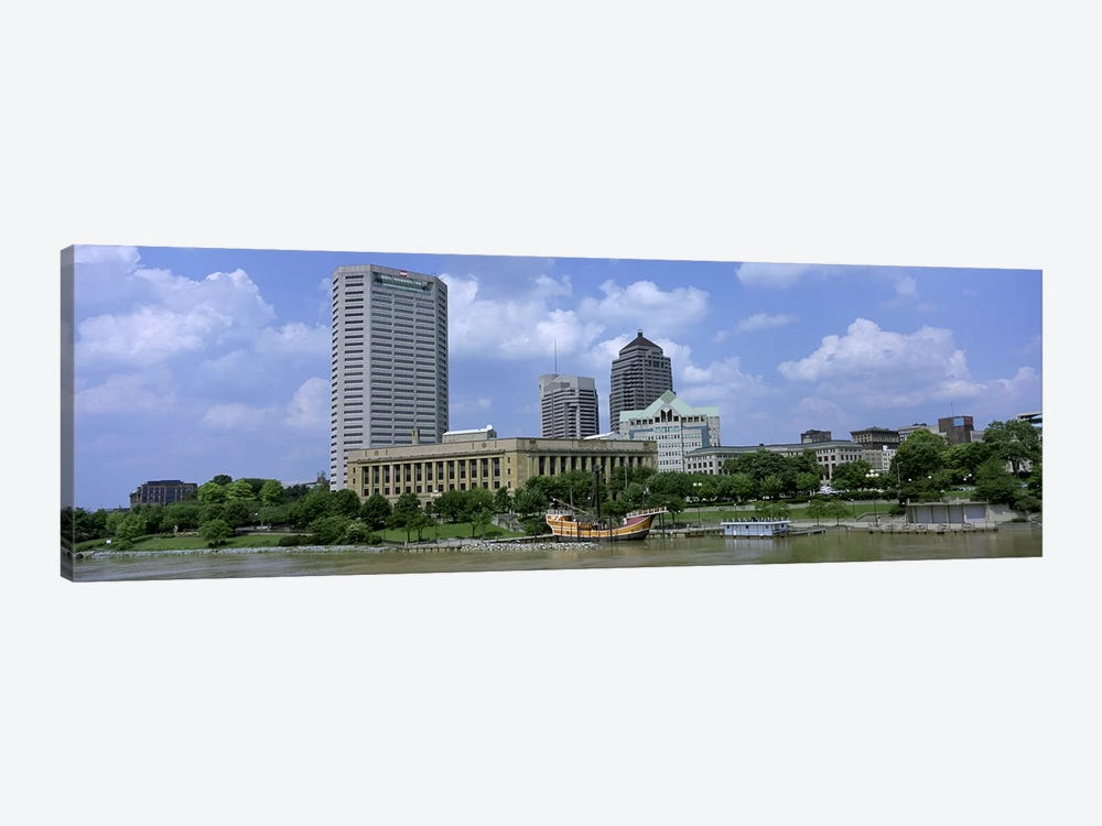 USA, Ohio, Columbus, Cloud over tall building structures by Panoramic Images 1-piece Canvas Art