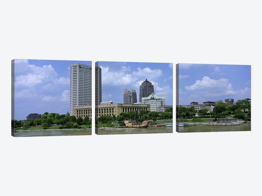 USA, Ohio, Columbus, Cloud over tall building structures by Panoramic Images 3-piece Canvas Artwork