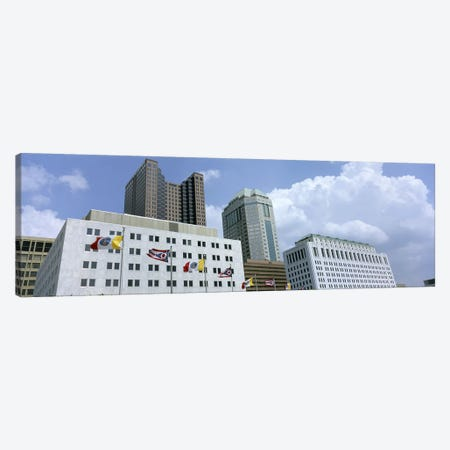 USA, Ohio, Columbus, Cloud over tall building structures #2 Canvas Print #PIM4687} by Panoramic Images Canvas Artwork